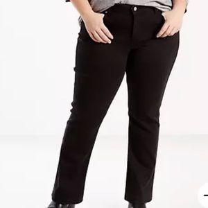 Levi's Black Classic Straight Jeans NWT